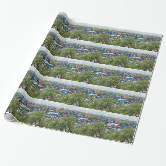 New Delhi India Traffic views from Metro Railways Wrapping Paper