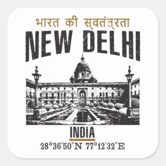 New Delhi Square Sticker