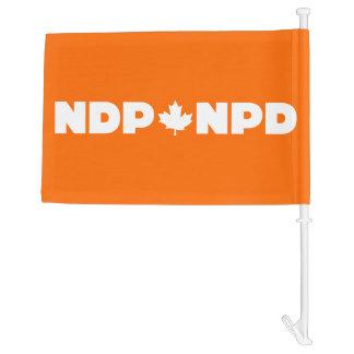 New Democratic Party Canada Car Flag NDP