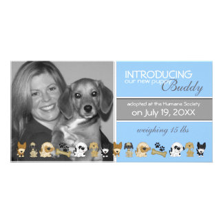New Dog Adoption Announcement Card