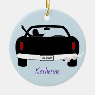 New Driver Female Personalised Ceramic Ornament