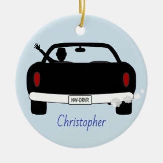 New Driver Male Personalised Ceramic Ornament
