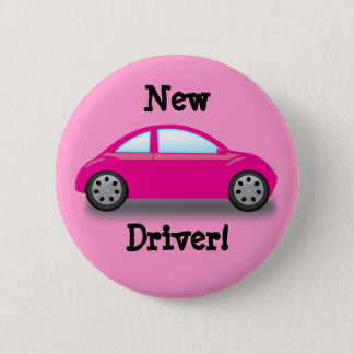 New Driver Pink Car Button