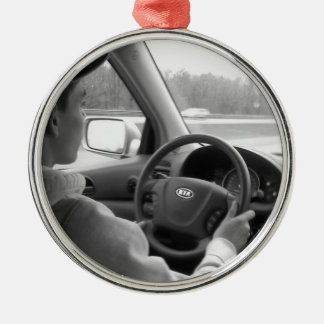 New Driver (Teenager) Silver-Colored Round Decoration