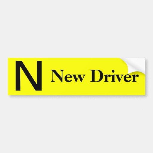 New driver  yellow bumper sticker