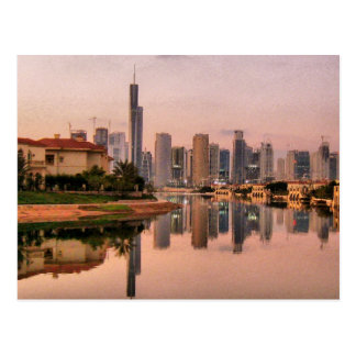New Dubai Skyline Postcard