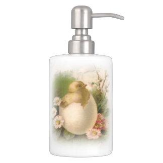 New Easter Chick Soap Dispenser And Toothbrush Holder