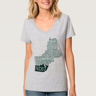 New England 67 Women's V-Neck T-Shirt