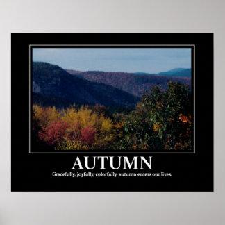 New England Autumn inspiration / motivation Poster