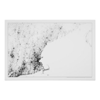 New England Census Dotmap Poster
