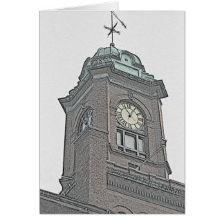 New England Clock Tower Card