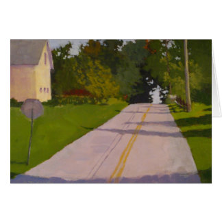 New England country road greeting card