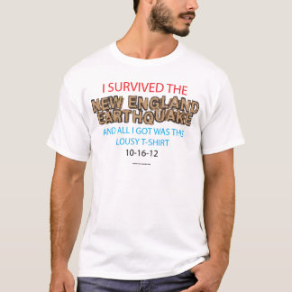 New England Earthquake 2012 T-Shirt