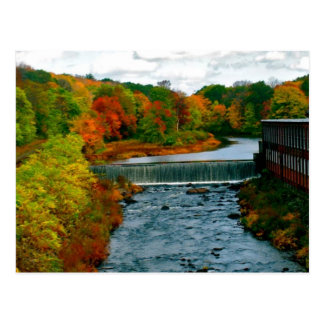 New England Fall Day Photo taken in Massachusetts Postcard