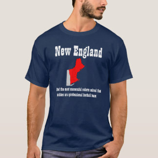 New England Football (dark w map) T-Shirt
