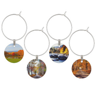New England in Fall Wine Charms