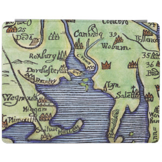 NEW ENGLAND MAP 1677 iPad COVER