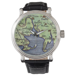 NEW ENGLAND MAP 1677 WATCH