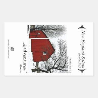 New England Saints Rectangular Sticker