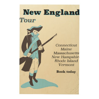 New england Tour vintage travel poster