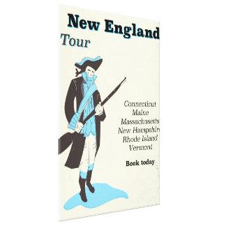 New england Tour vintage travel poster Canvas Print