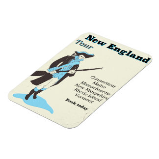 New england Tour vintage travel poster Magnet