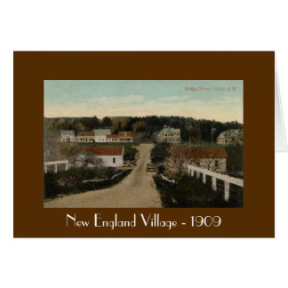 New England Village - 1909 Card