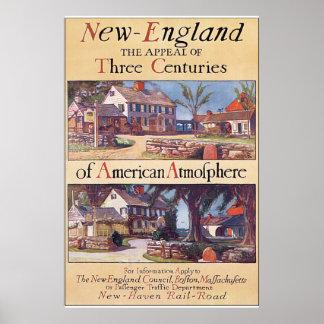 New England Vintage Travel Poster Artwork