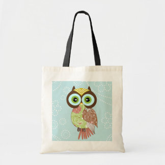 New Fancy Funky Owl Tote Bag