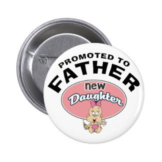 New Father New Daughter 6 Cm Round Badge