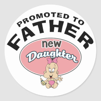 New Father New Daughter Round Sticker