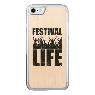 New FESTIVAL LIFE (blk) Carved iPhone 8/7 Case