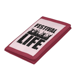 New FESTIVAL LIFE (blk) Trifold Wallet
