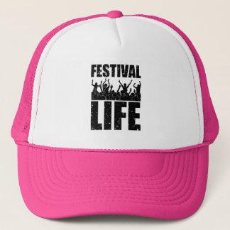 New FESTIVAL LIFE (blk) Trucker Hat