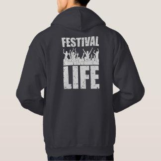 New FESTIVAL LIFE (wht) Hoodie