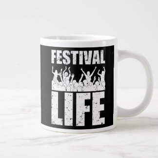 New FESTIVAL LIFE (wht) Large Coffee Mug