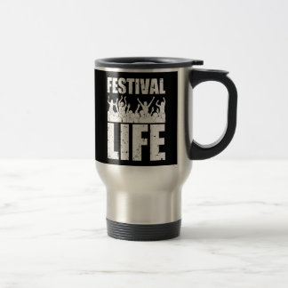 New FESTIVAL LIFE (wht) Travel Mug