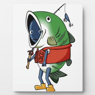 New fisherman English story Kinugawa Tochigi Plaque
