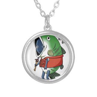 New fisherman English story Kinugawa Tochigi Silver Plated Necklace