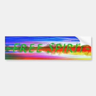 (NEW) FREE SPIRIT bumper sticker