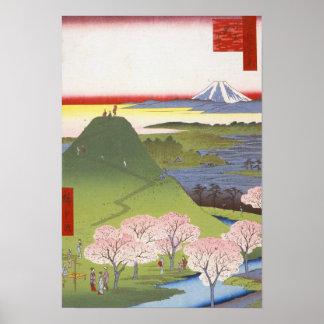 """New Fuji"" Japanese Ukiyo-e Hiroshige Poster"