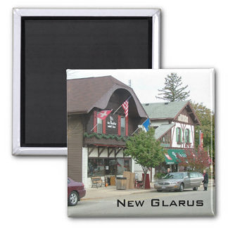 New Glarus Square Magnet