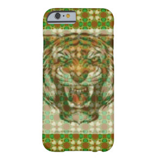 new gold green tiger angry barely there iPhone 6 case