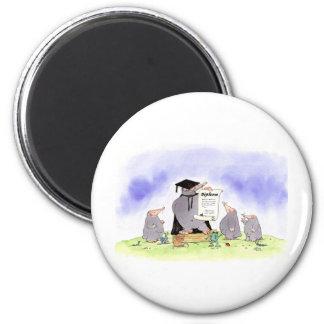 new graduate 6 cm round magnet