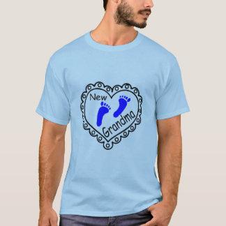 New Grandma Baby Boy Heart T-Shirt
