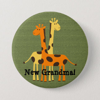 New Grandma Grandpa Aunt Uncle Cousin...Button 7.5 Cm Round Badge
