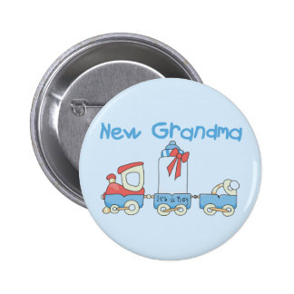 New Grandma of Boy-Train Tshirts and Gifts Buttons