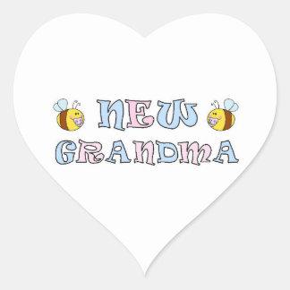 New Grandma Heart Sticker