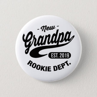 New Grandpa 2019 6 Cm Round Badge