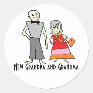 • New Grandpa and Grandma Stickers